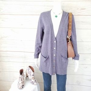 Anthropologie Moth soft cozy button front cardi